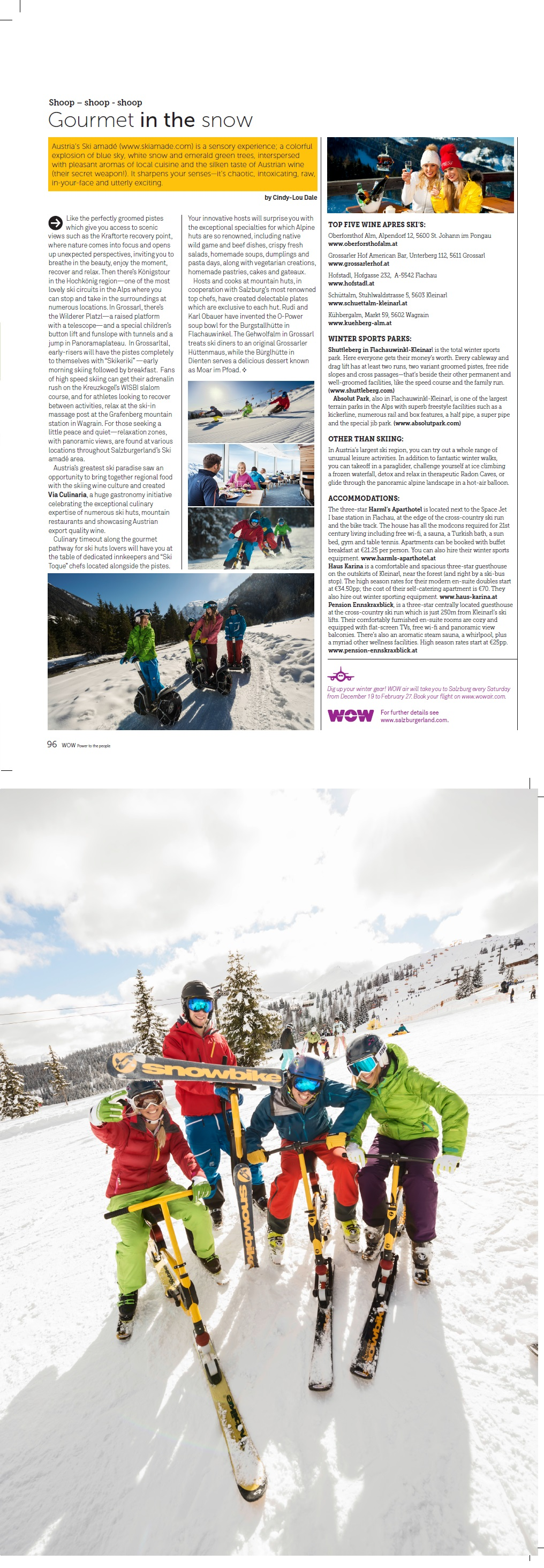 Iceland Wow Air, Austria Gourmet in the snow