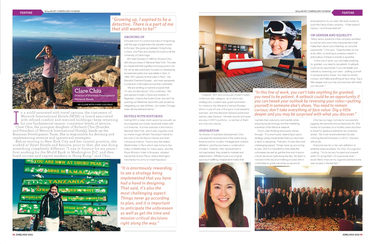 Premier Traveler, USA - Interview Warwick International Hotels