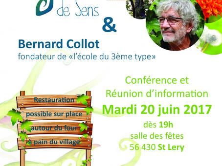 Conférence de Bernard Collot par Graine de Sens