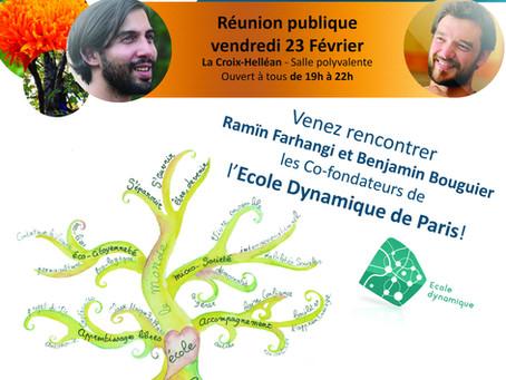 Venez rencontrer les co-fondateurs de l'école Dynamique de Paris