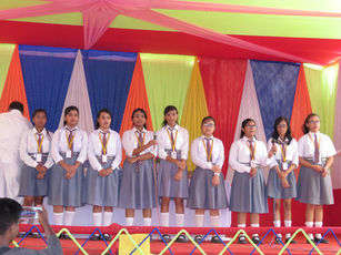 Stage peformence by Students