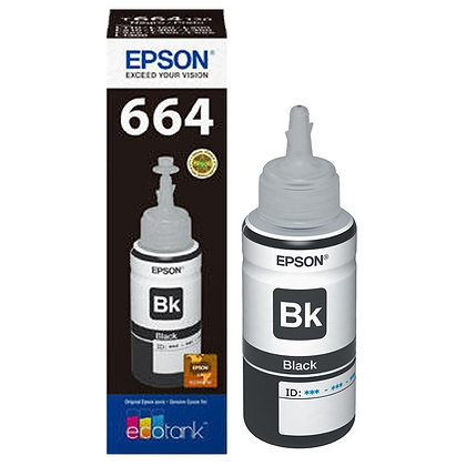 TINTA EPSON T664120AL - L SERIES COLOR NEGRO