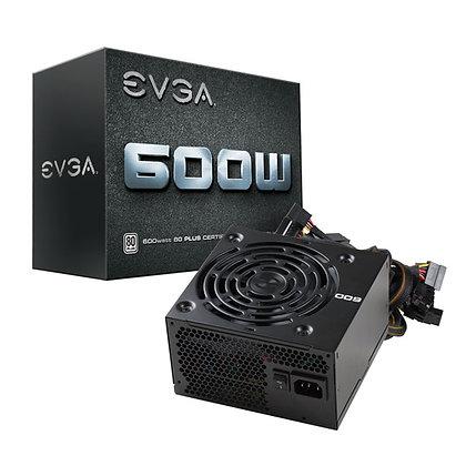 FUENTE DE PODER EVGA 600W / 80 PLUS / 100-W1-0600-K1