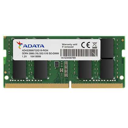 DDR4 16GB PC4-21300 /2666 MHz 2Rx4 1.2 V ADATA AD4S2666716G19 PORTATIL