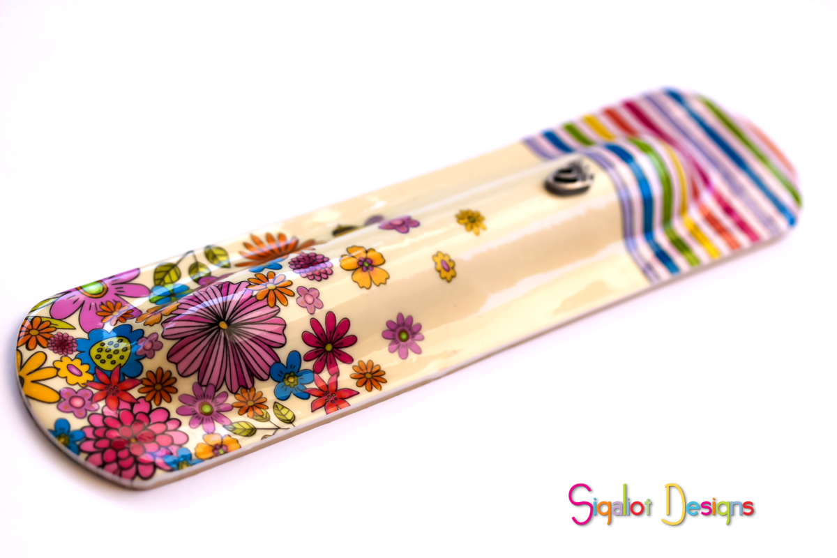 floral mezuzah case with bee (2 of 4).pn