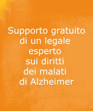 supporto gratuito di un legale esperto sui diritti dei malati di alzheimer