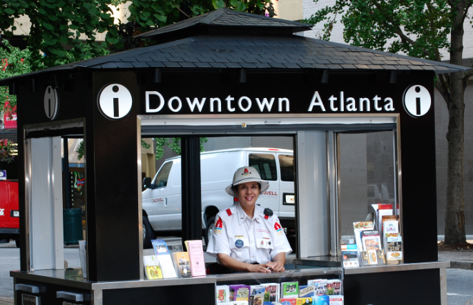 Overlooking FlatironCity and Atlanta's Streetcar