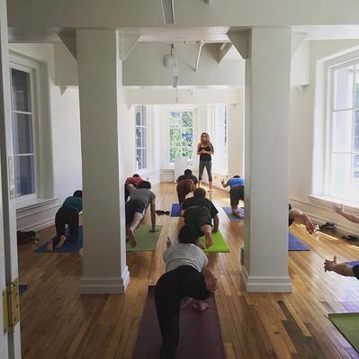 Yoga at noon