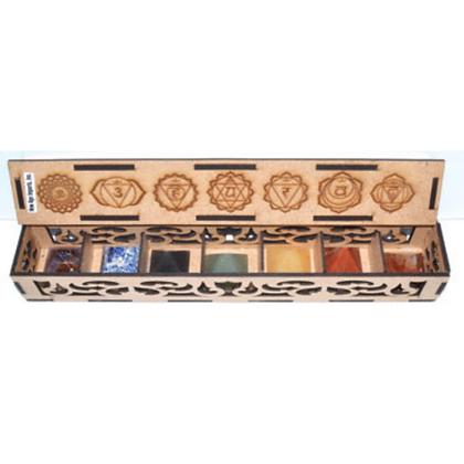 25-30mm Gem Stone pyramid set with Box