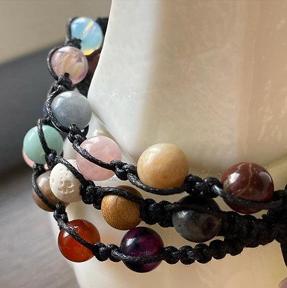 Custom Shamballa Knotted Bracelet by Dragon'sWay