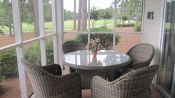 Screened Porch with Golf Course View