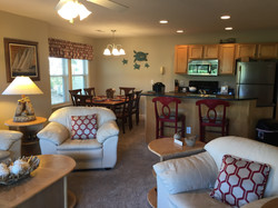 Club Villa Living Room and Kitchen