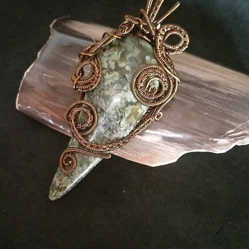 Happy Camp Jade  (Vesuvianite) in Copper swirls