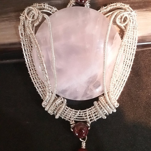 Stunning Rose Quartz in Sterling Silver