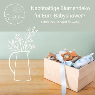 Nachhaltige Blumendeko für Eure Babyshower