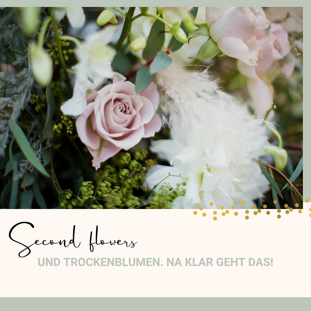 Nachhaltige Blumendeko Second flowers Event Hochzeit Rose Pampasgras