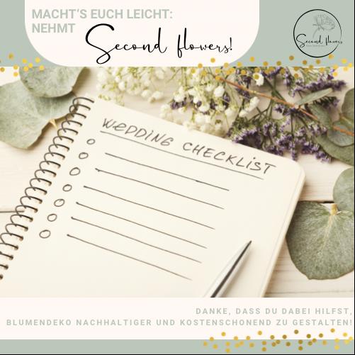 Nachhaltige Blumendeko Second flowers Event Hochzeit Hochzeitsplanung Wedding planner