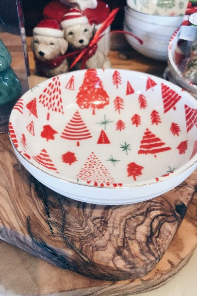 Red Christmas Bowl