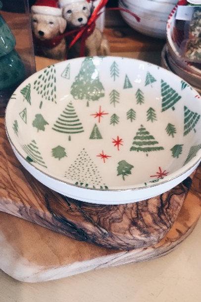 Green Christmas Bowl