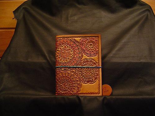 "5"" x 7"" Mandala Stamped Traveler's Notebook"
