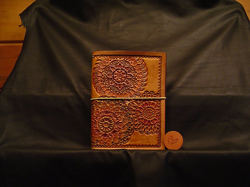 "5"" x 7"" Mandala Stamped Traveler's Notebook"