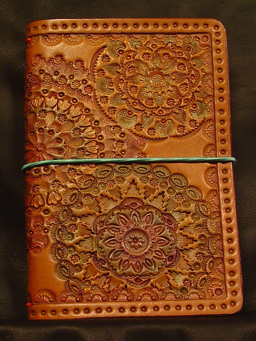 "3.5"" x 5.5"" Mandala Stamped Traveler's Notebook"