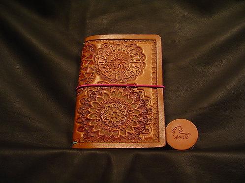 "3.5"" x 5.5"" Mandala Stamped Traveler's Notebook"
