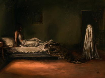 A ghost at the door