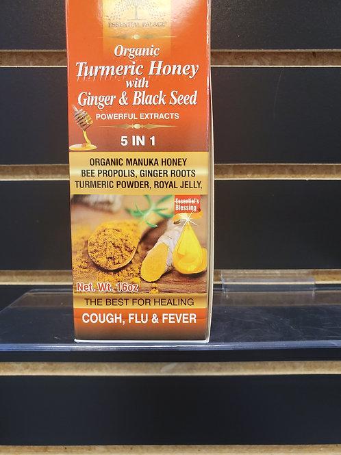 Organic Turmeric Honey with Ginger & Black Seed