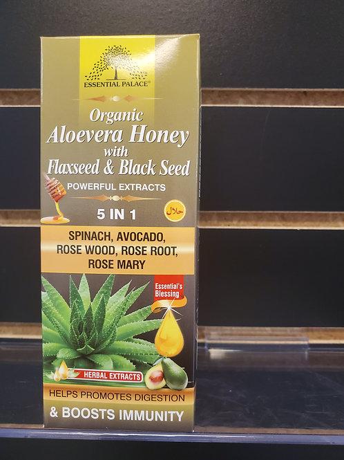 Organic Aloevera Honey with Flaxseed & Black Seed