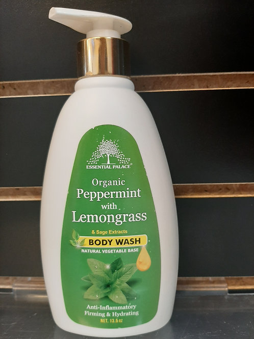Organic Peppermint with Lemongrass& Sage Estract Body Wash