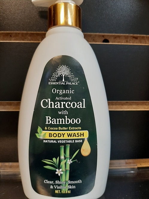 Organic Charcoal with Bamboo & Cocoa Butter Body Wash