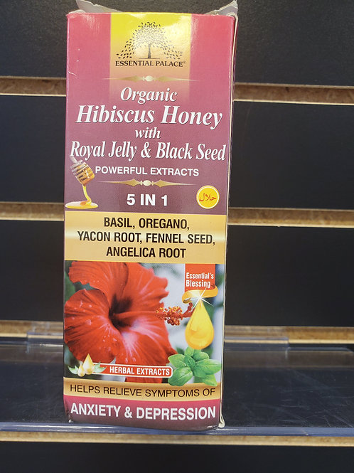 Organic Hibiscus Honey with Royal Jelly & Black Seed