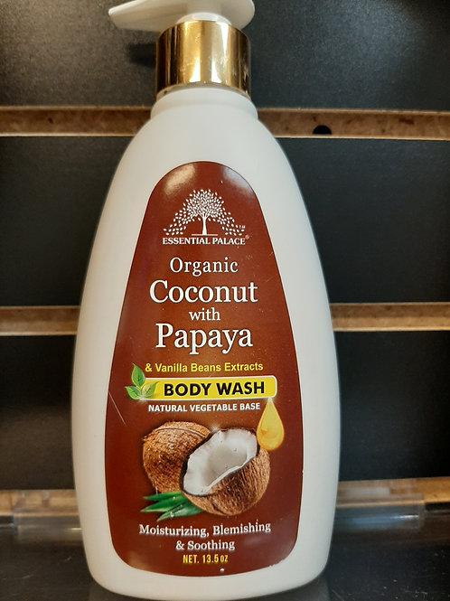Organic Coconut & Papaya & Vanilla Beans Extracts Body Wash