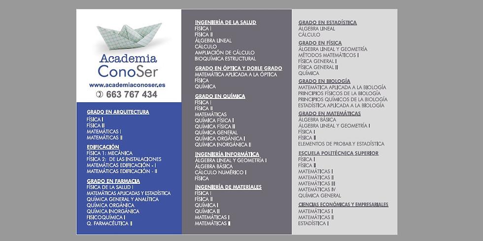 CONVOCATORIA DE SEPTIEMBRE - INTENSIVOS DEL 1-8 SEPTIEMBRE