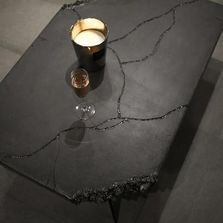 "Table basse ""shining meteorite"""