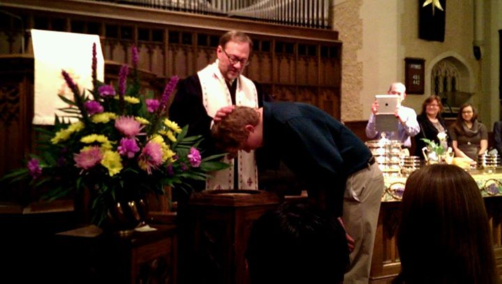 Facebook - A baptism and a confirmation this morning,