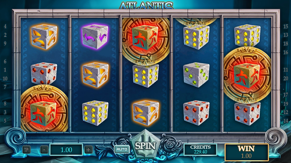 Blog LuckyGames.be - Gaming1 Dice Slot Atlantis