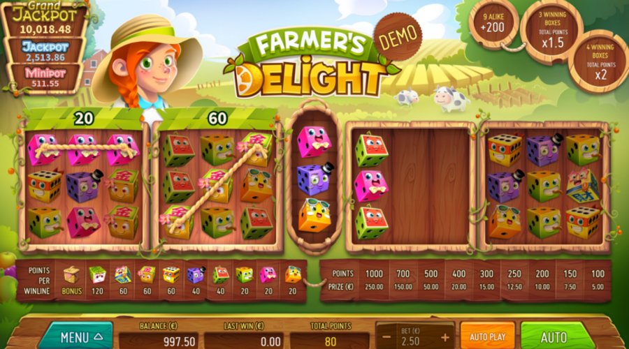Blog LuckyGames.be - Farmer's Delight Dice Game Airdice