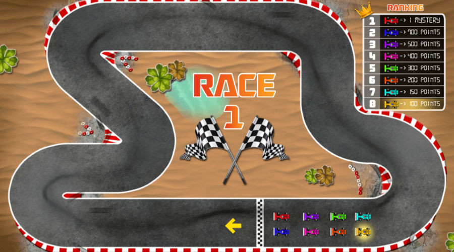 Blog LuckyGames.be - Gaming1 Dice Game Mystery Race