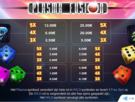 Dice slot Plasma Fusion - LuckyGames Casino