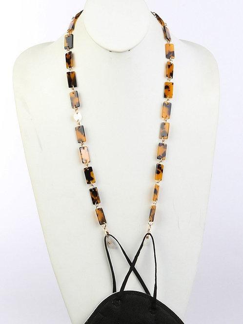 Stylish Squared Links Mask Holder Necklace