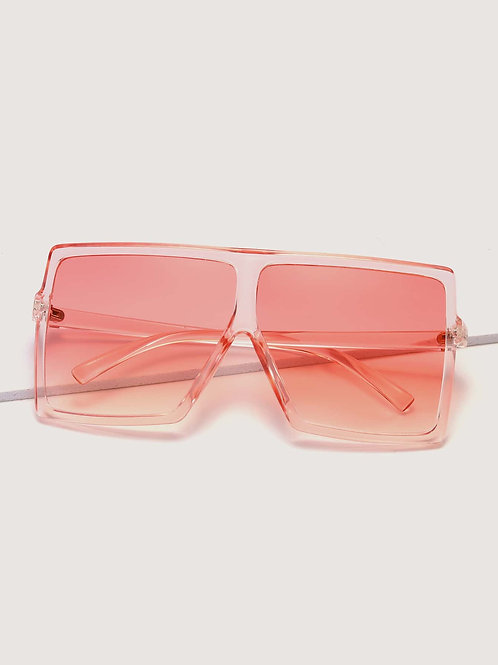 Pretty in Pink Trendy Flat Top Sunglasses Trendy and Stylish