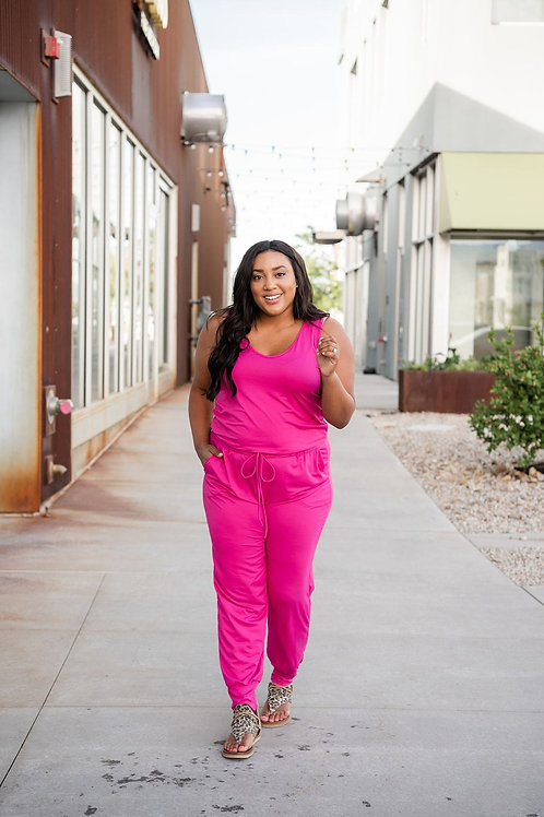Feeling Pretty Jumpsuit. 2 Colors Pretty Pink & Sexy Black Up to 2x