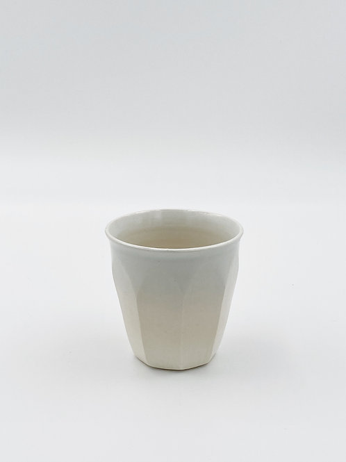 Faceted Cup White