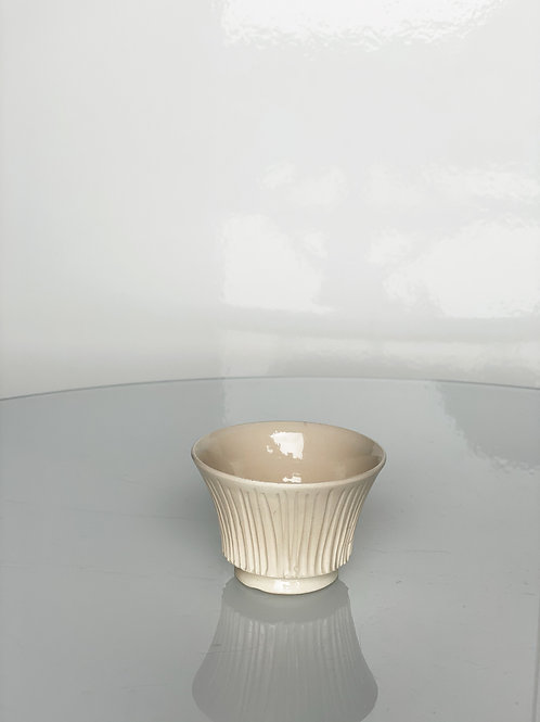 Fluted Cup White