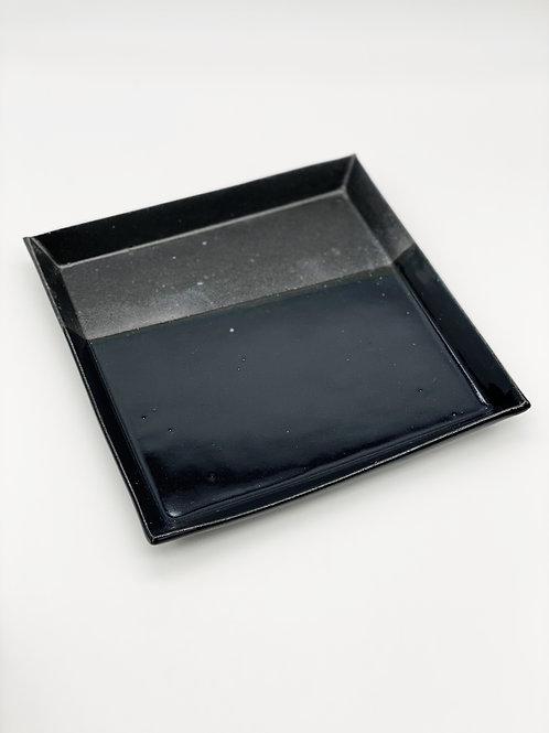 四方皿 20.5cm x 20.5cm ブラック / ダークブルー