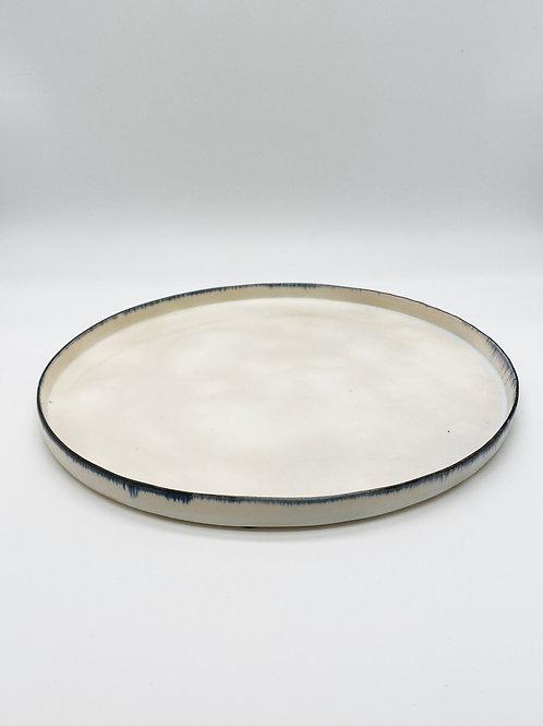 平皿 XL ブルー皮鯨