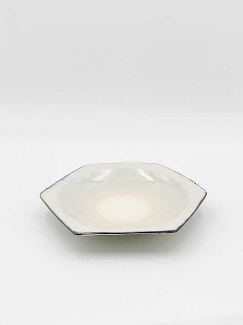 Honeycomb Plate L Blue Rim
