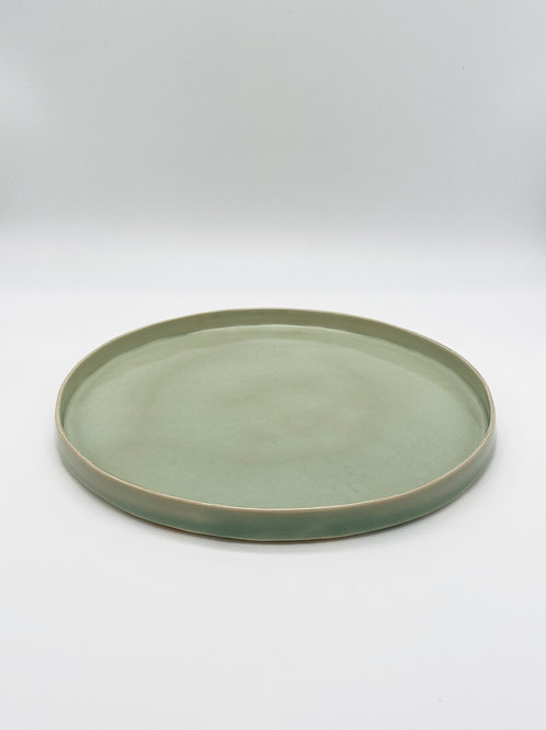 平皿 L 緑青磁
